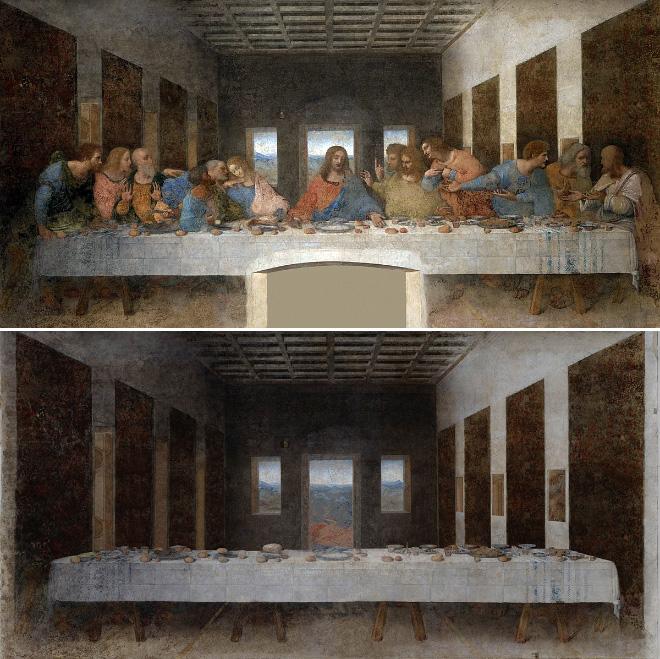 Última cena (La última cena, de Leonardo da Vinci)