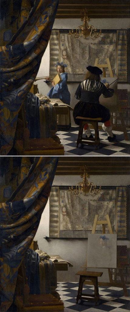 Estudio del artista (El arte de la pintura, de Johannes Vermeer)