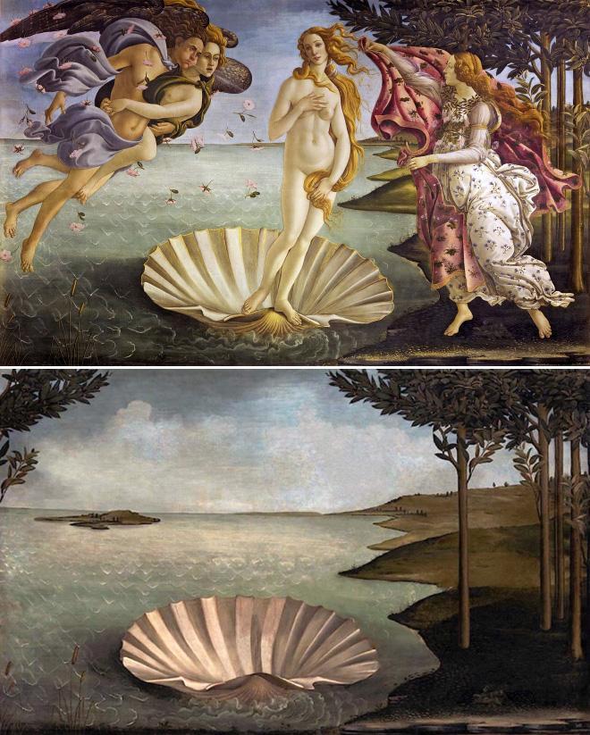 Lugar para un nacimiento (El nacimiento de Venus, de Sandro Botticelli)