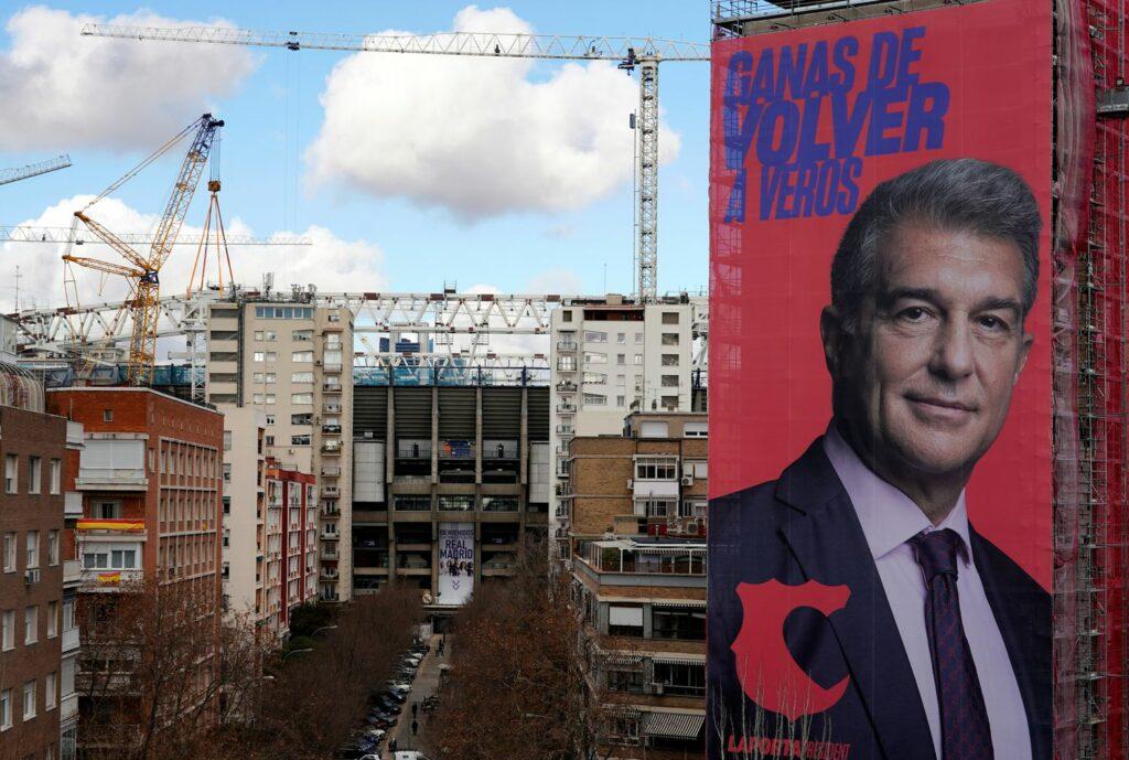 La publicidad exterior de Laporta en Madrid: ¿provocación o genialidad?
